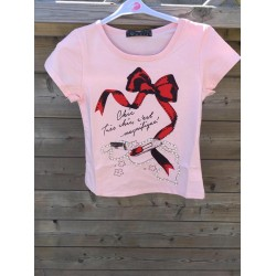 T-shirt CHIC roze